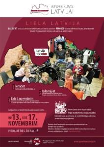 apsveikums latvijai plakats